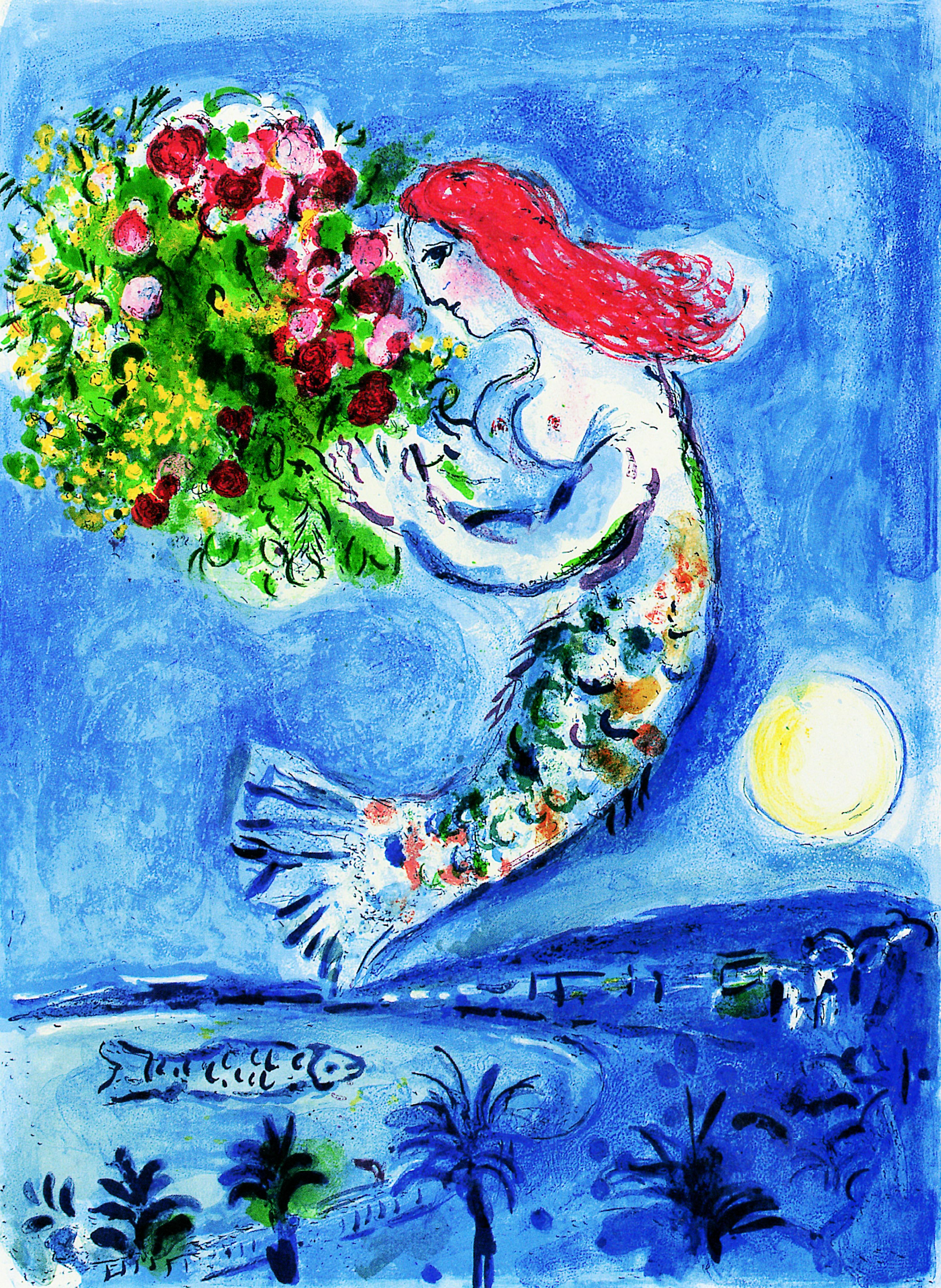 Marc Chagall: Die Bucht der Engel, 1961, Lithographie M 350 © VG Bild-Kunst Bonn 2018