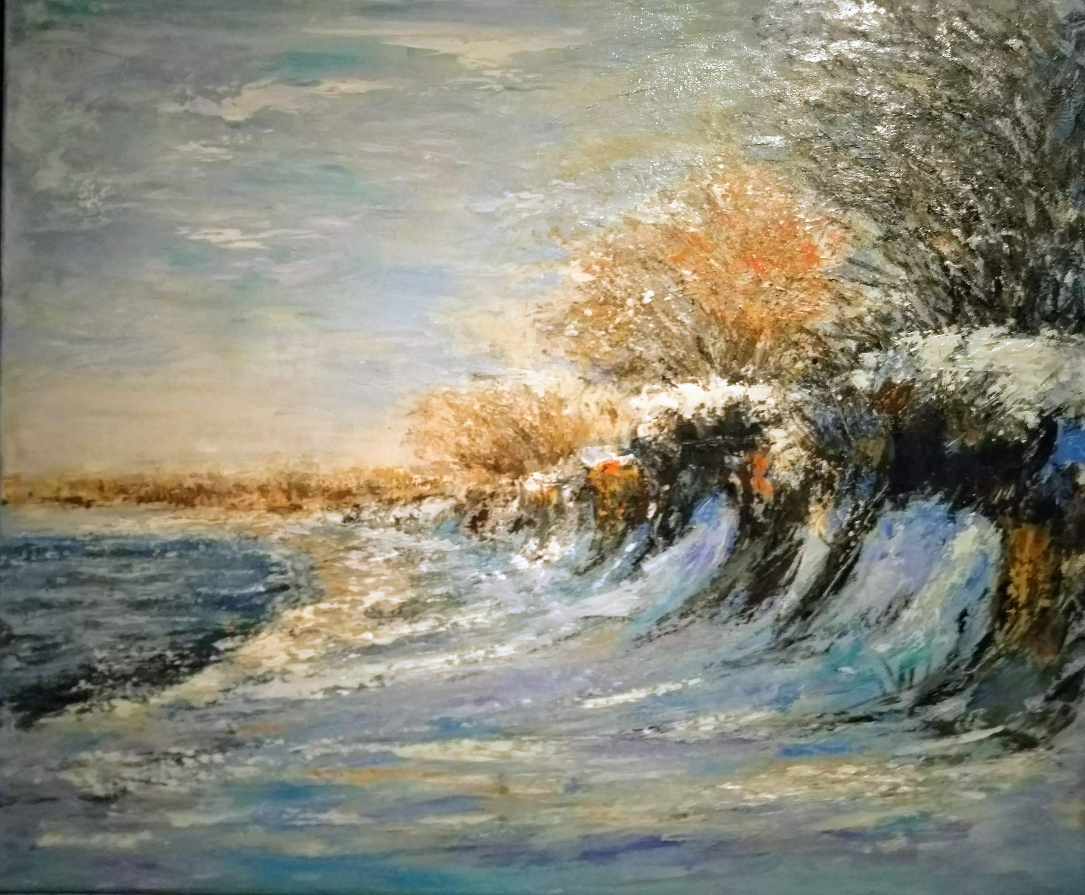 Küstenstreifen mit Schnee © Rosemarie Hoffmann