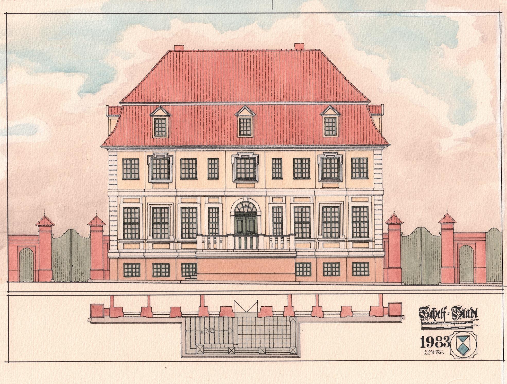 Zeichnung © Dieter Zander, Schwerin/Repro: Stiftung Mecklenburg