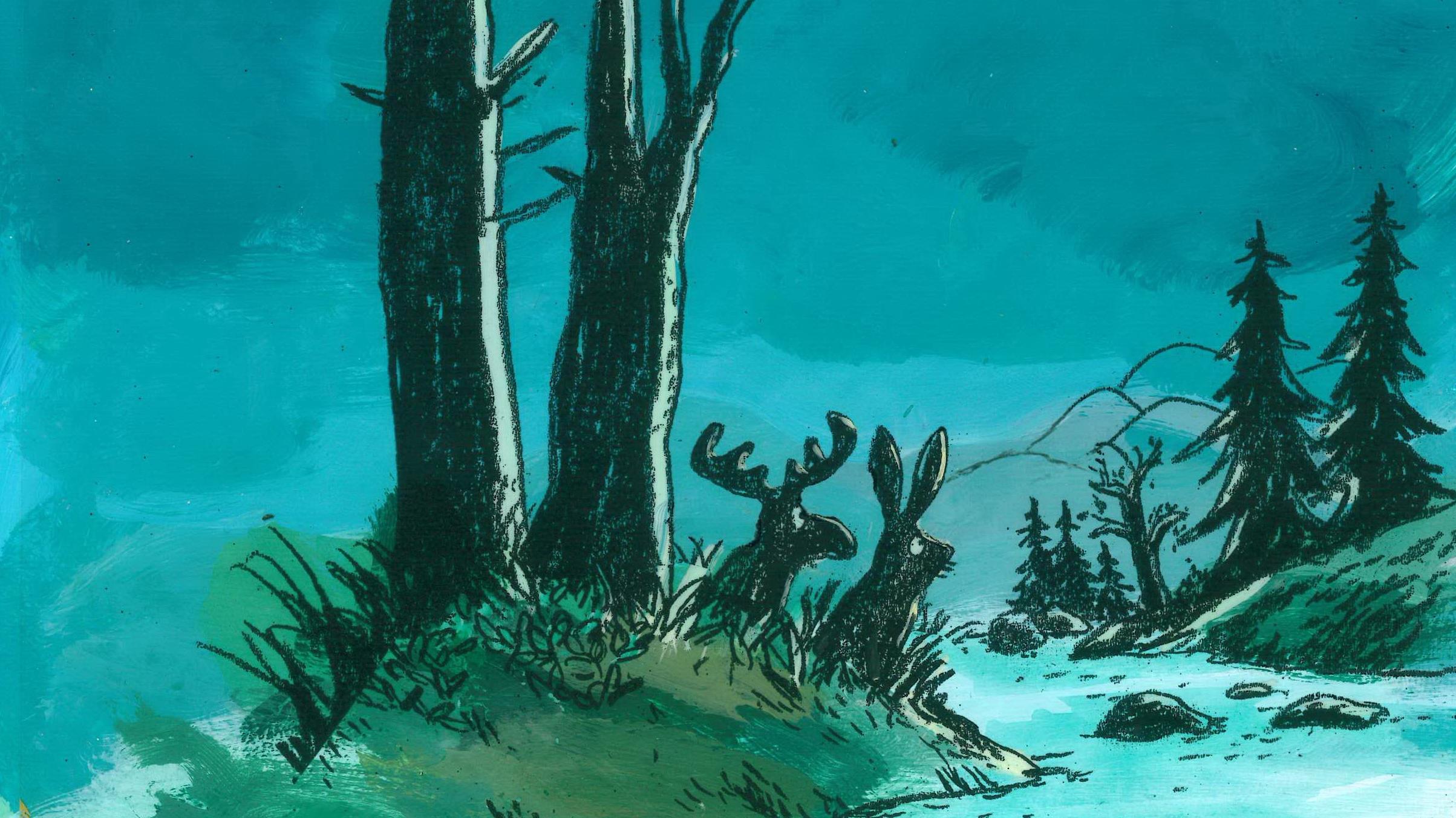 """Illustration zum Kinderbuch """"Erkki, der kleine Elch"""" von Katja Gehrmann © Illustration zum Kinderbuch """"Erkki, der kleine Elch"""", Zeichnung © Katja Gehrmann"""