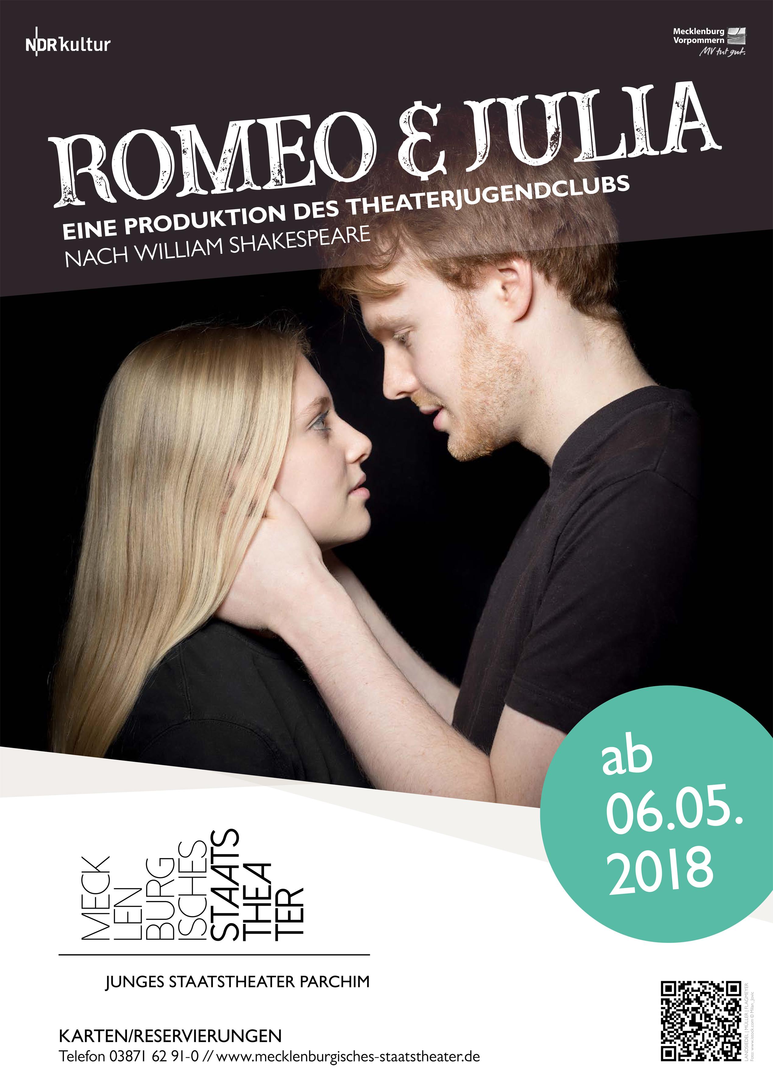 nach William Shakespeare, eine Produktion des Theaterjugendclubs Parchim © www.mecklenburgisches-staatstheater.de