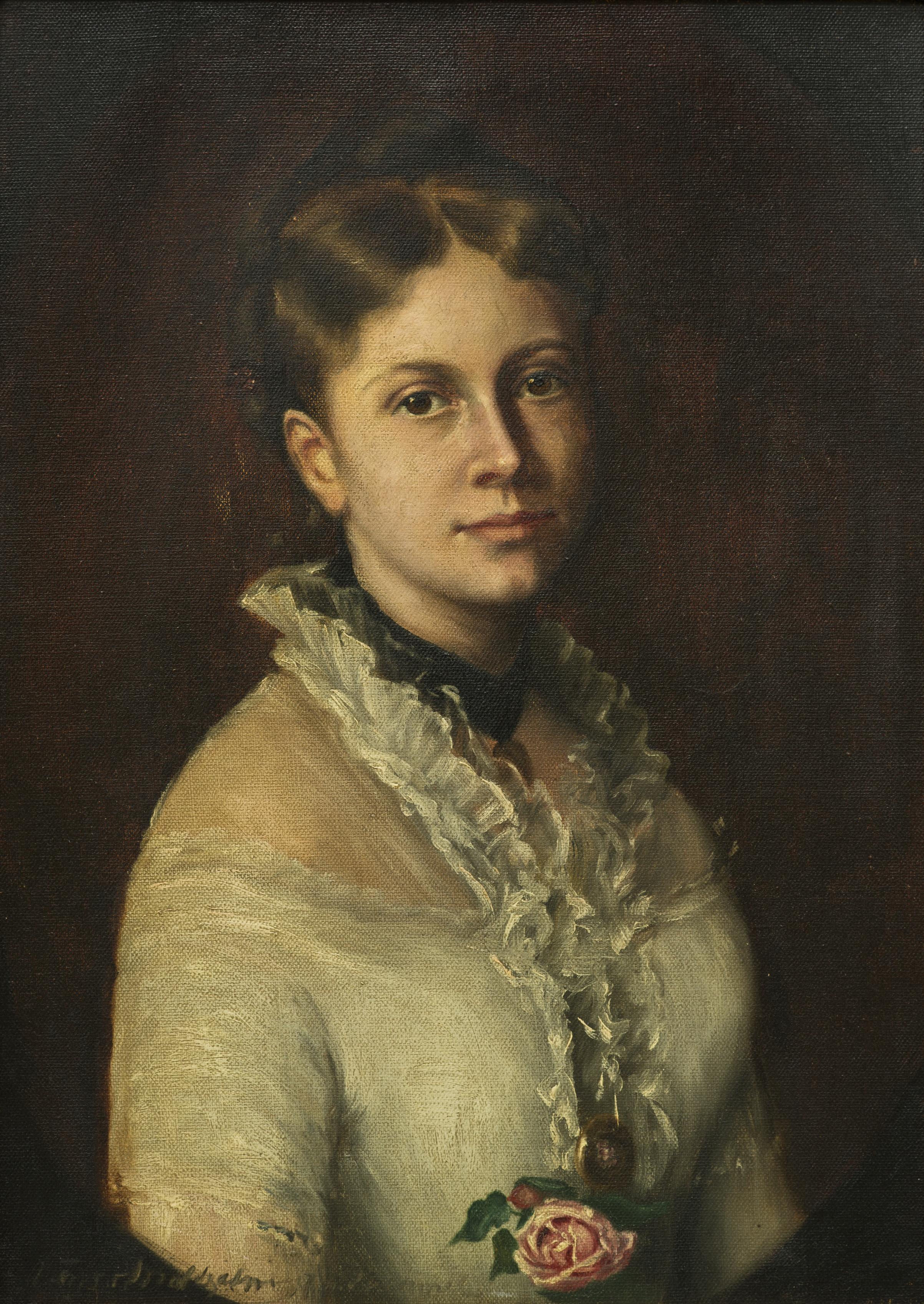 Alice von Maltzahn (1883 – 1973): Dame mit Rose © Stiftung Mecklenburg